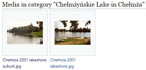 Category Chełmżyńskie Lake in Chełmża bei Wikimedia