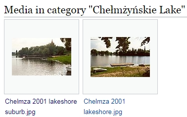 Category Chełmżyńskie Lake bei Wikimedia