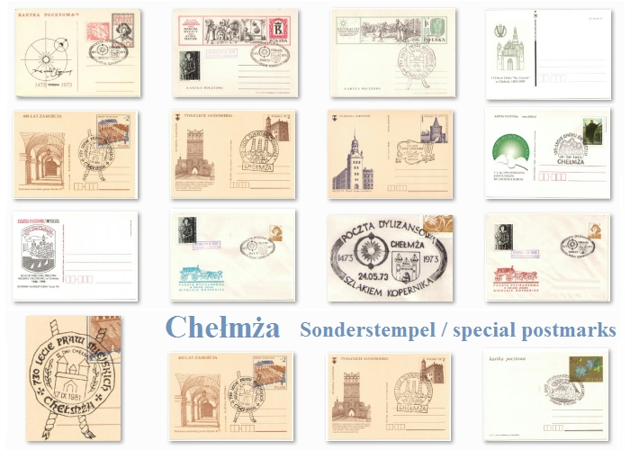 spezial postmarks from Chelmza