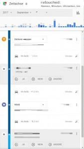 Google Zeitachse