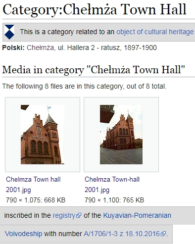 Category Chełmża Town Hall bei Wikimedia