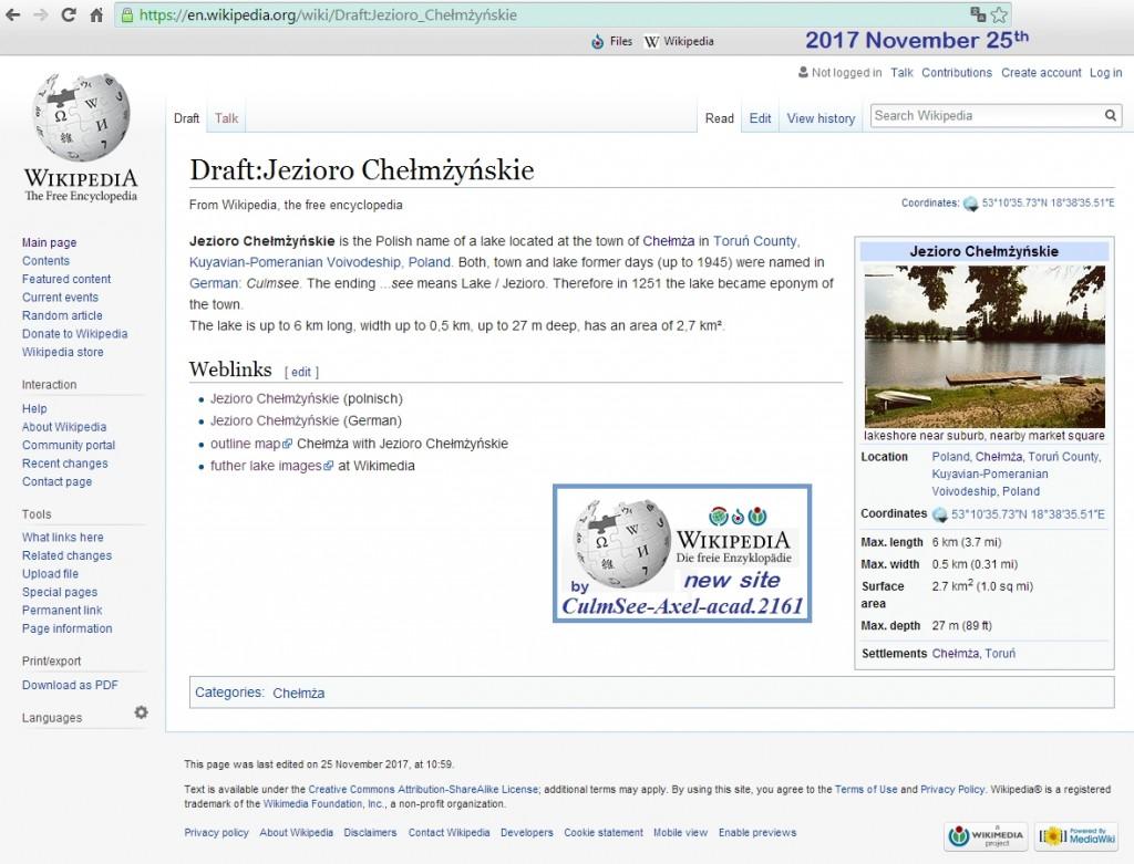 Jezioro Chelmzynskie, Wikipedia EN