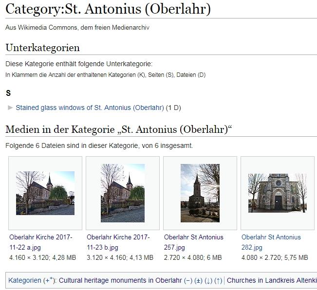 Kategorie St. Antonius (Oberlahr) bei Wikimedia
