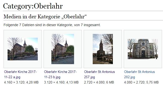 Kategorie Oberlahr bei Wikimedia