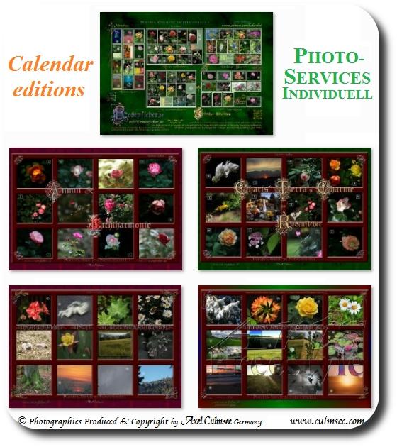 Kalender Übersicht Editionen