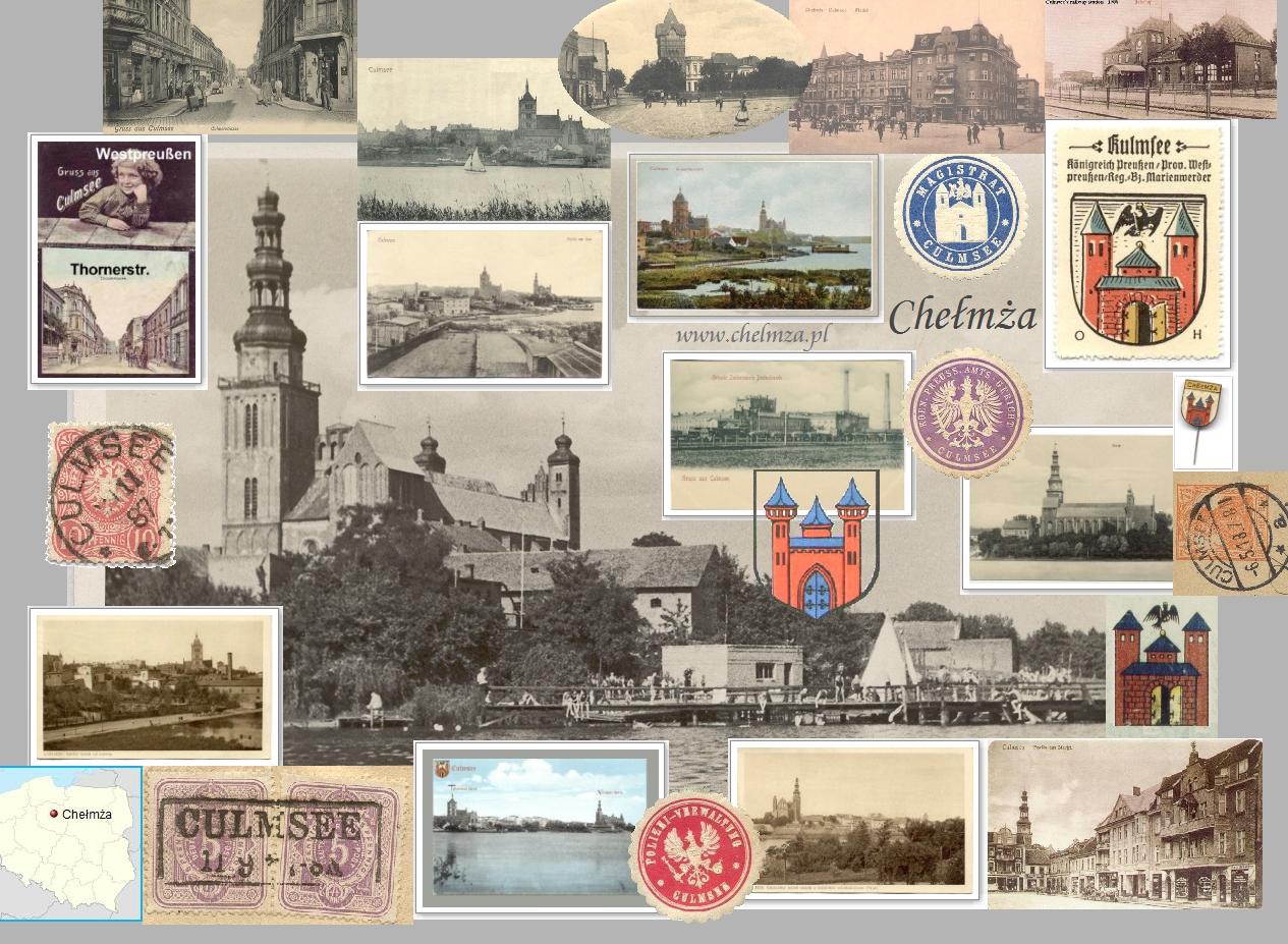 Collage Culmsee Postkarten und Stempel