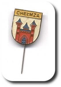 Chelmza Wappen Anstecknadel schraeg