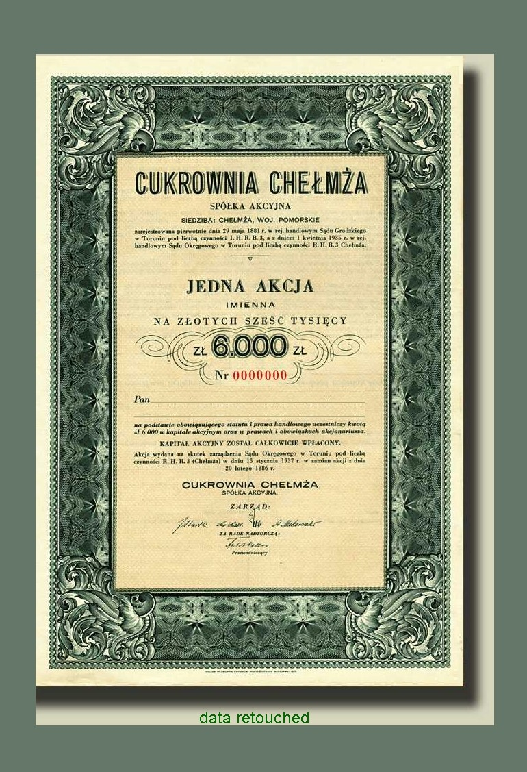 Zuckerfabrik-Aktie Chelmza