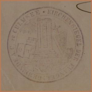 Kirchensiegel Culmsee 1920 darkened