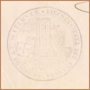 Kirchensiegel Culmsee 1920 q