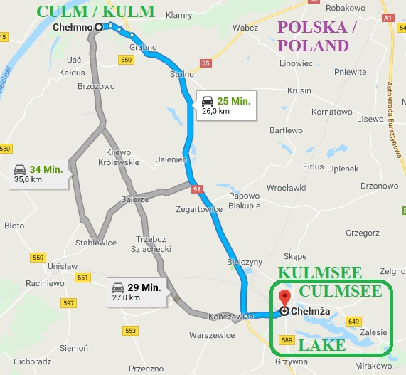 Chelmno Chelmza Culmsee LAKE area