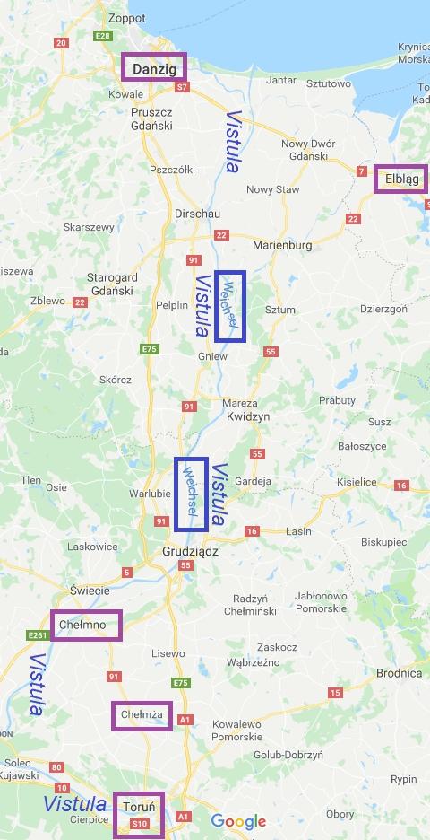 Gdansk towards Chelmno via Vistula