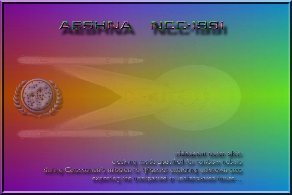 U.S.S. AESHNA NCC-1991 rainbow mode