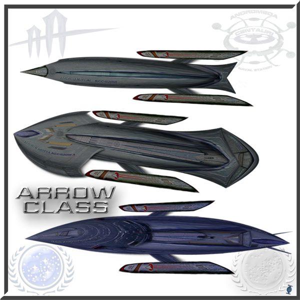 ARROW class starships trio