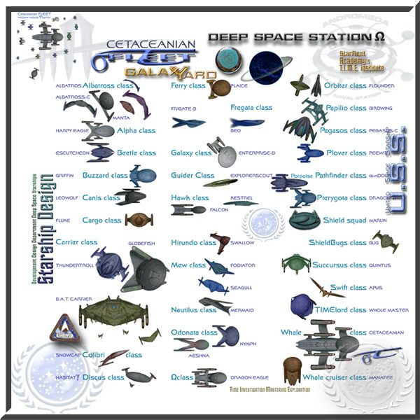 Starfleet starships survey