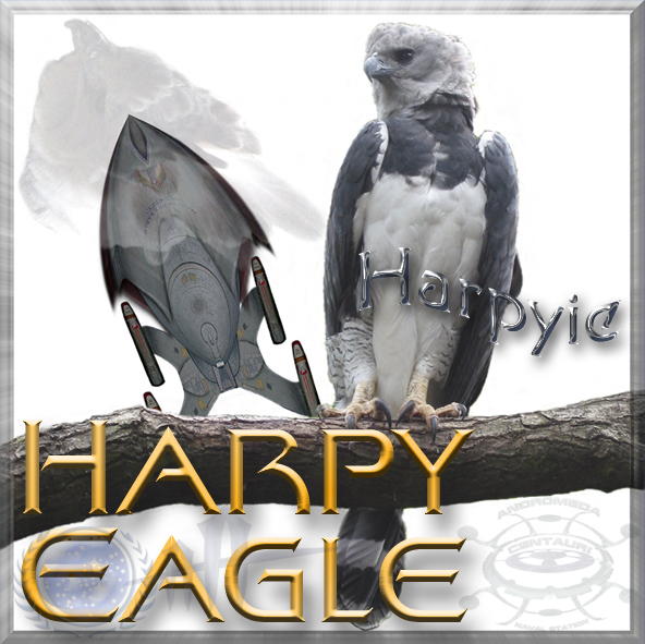starship Harpy Eagle with eponym