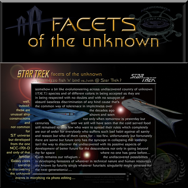 Star Trek facets of the unknown