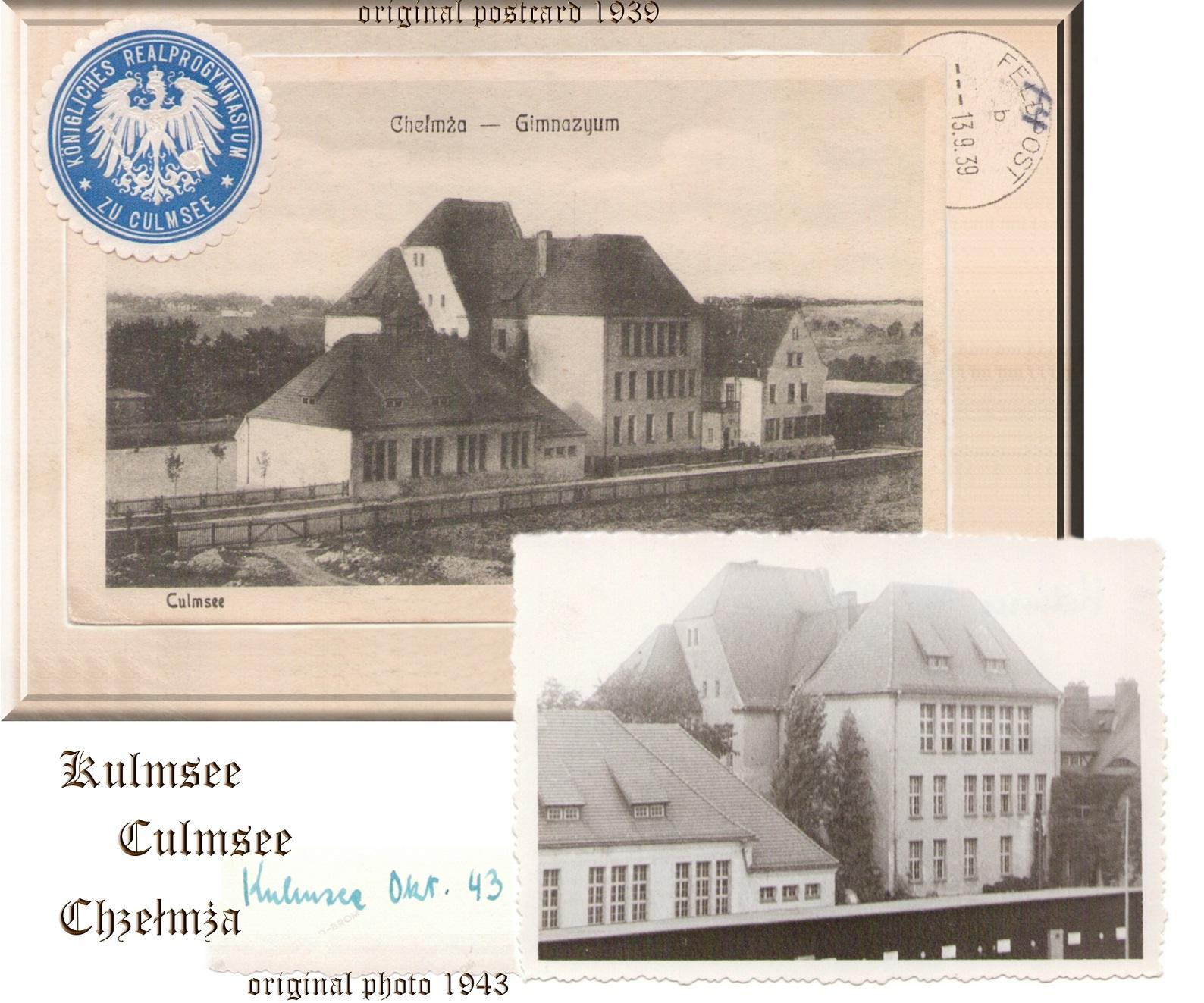 Gymnasium Chelmza / Culmsee incl. Siegelmarke