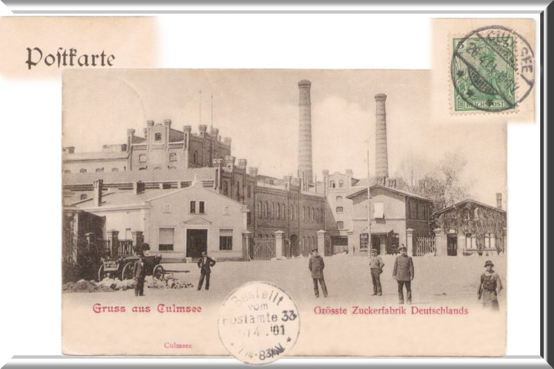 Culmsee postcard sugar factory