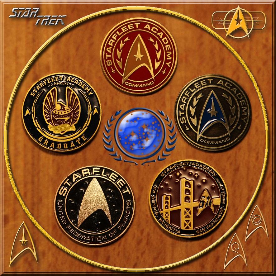 Star Trek keyring pendants