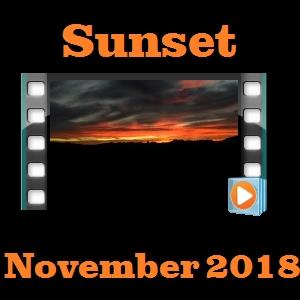 Sunset November 2018