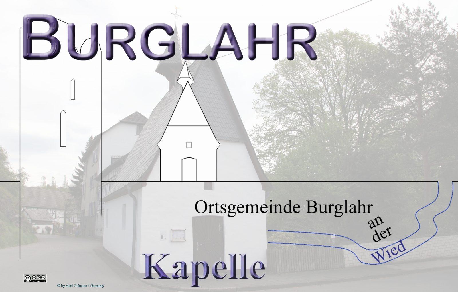 Burglahr Kapelle mit Risszeichnung Sehenswürdigkeiten (Skyline)