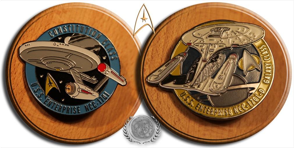 Pins NCC-1701 n NCC-1701-D