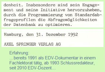 seit 1991 EDV-Dokumentar