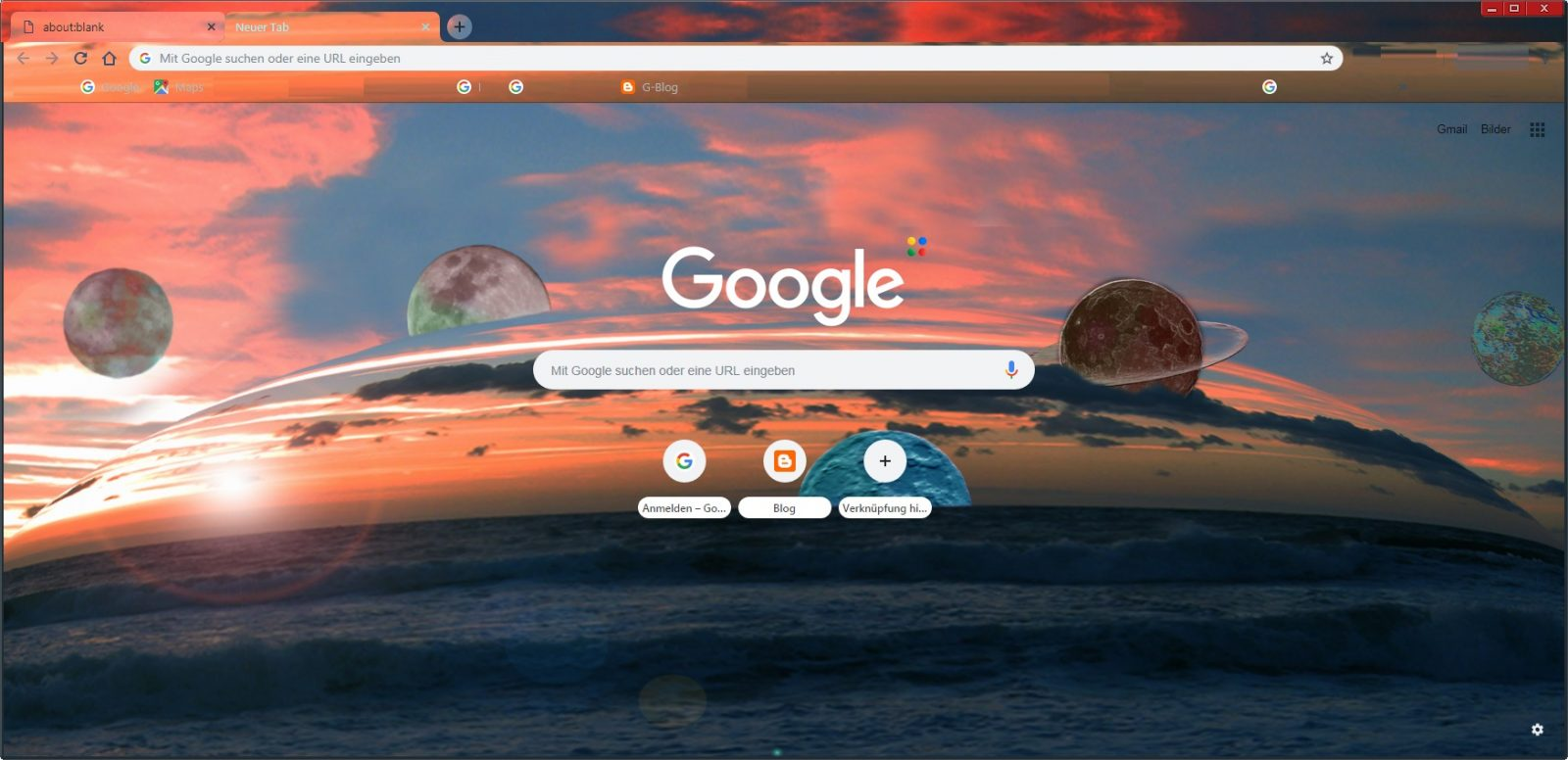 customized Chrome browser