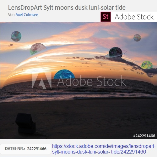 LensDropArt Sylt moons dusk luni-solar tide by Axel Culmsee via Adobe Stock