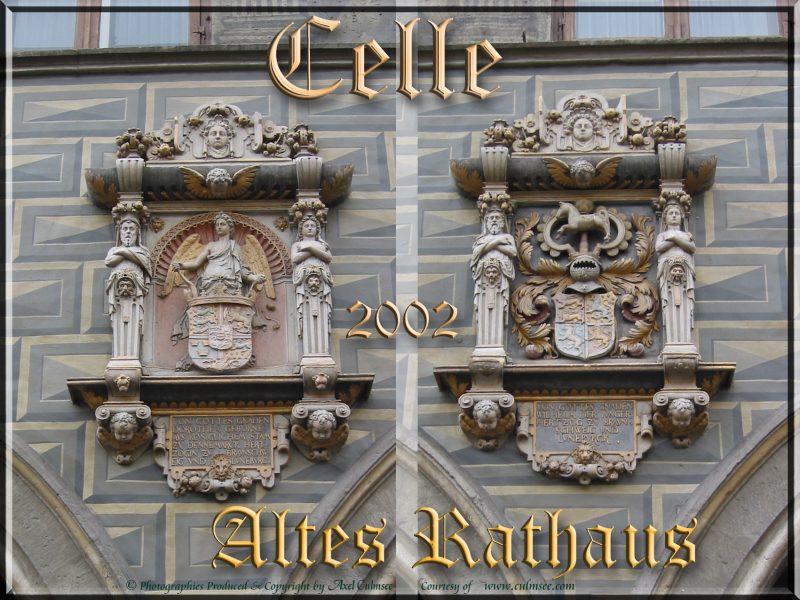 Celle Altes Rathaus Fassadenskulpturen 2002