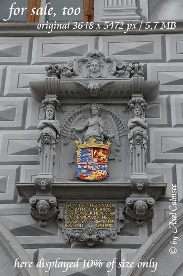 Celle Altes Rathaus Wappen Herzogin Dorothea