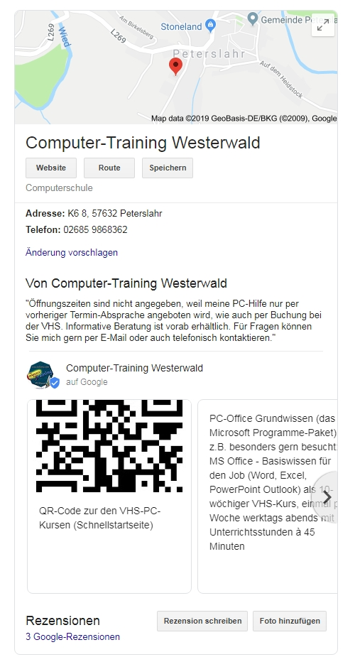 Computer-Training-Westerwald Axel Culmsee