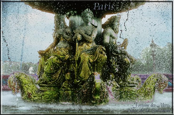 Paris Place de la Concorde Fontaine