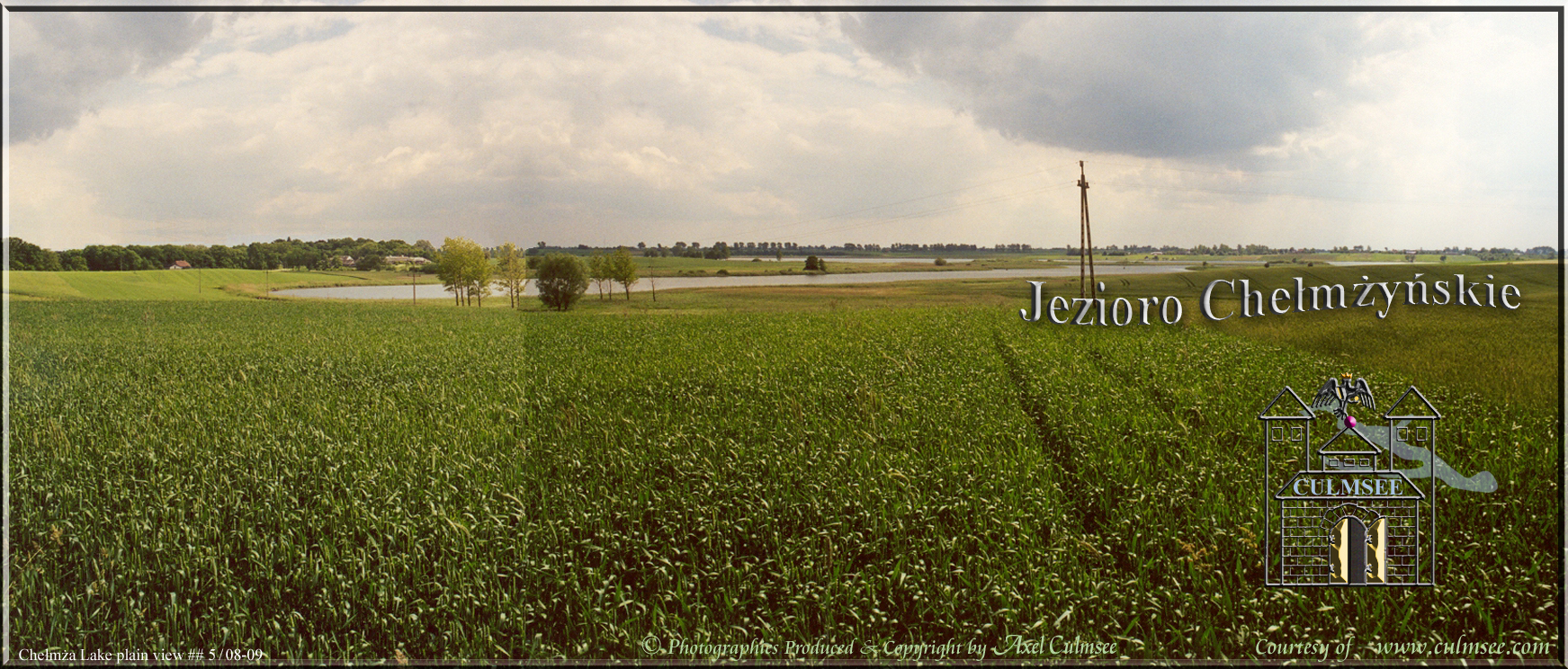 Chelmza Jezioro Chelmzynskie 2001 plain fields view