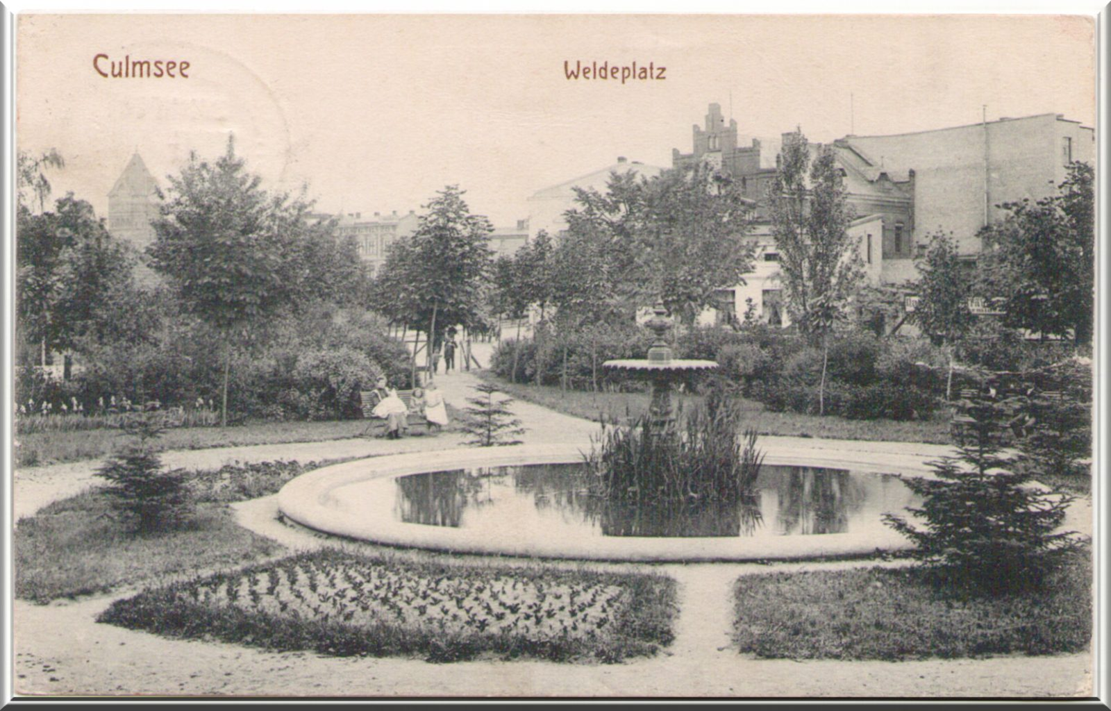Culmsee Weldeplatz ancient postcard