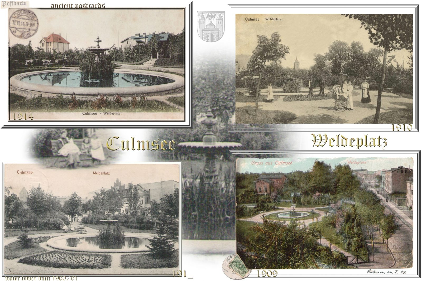Culmsee Weldeplatz ancient postcards