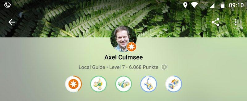 Faktenermittler-Rezensent-Meister Local Guide