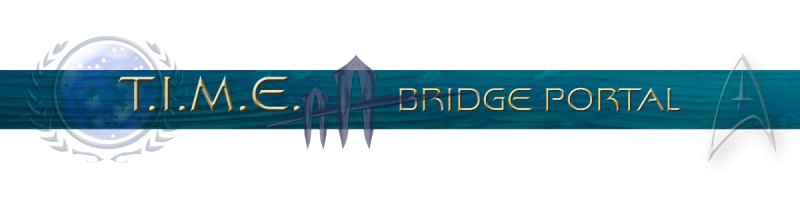 banderole Star Trek TIME bridge portal