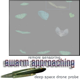 swarm approaching seen via ds drone probe