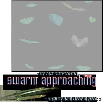 swarm approaching seen via ds drone probe