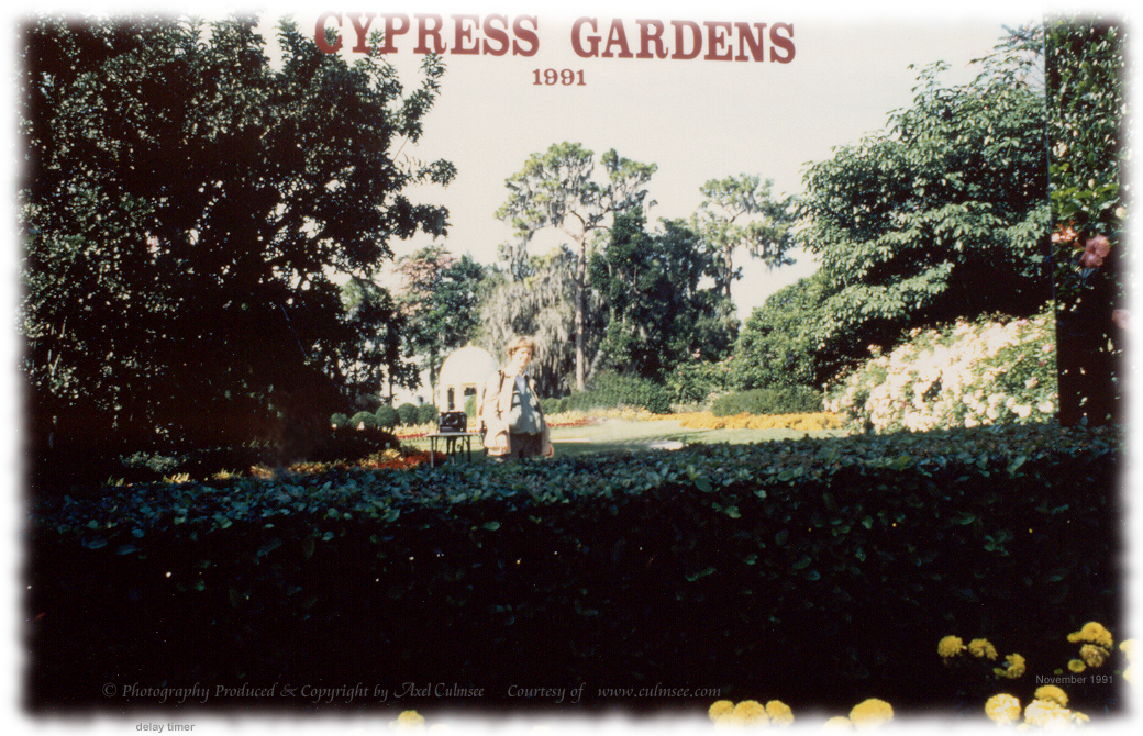 A.C. at Cypress Gardens, November 1991