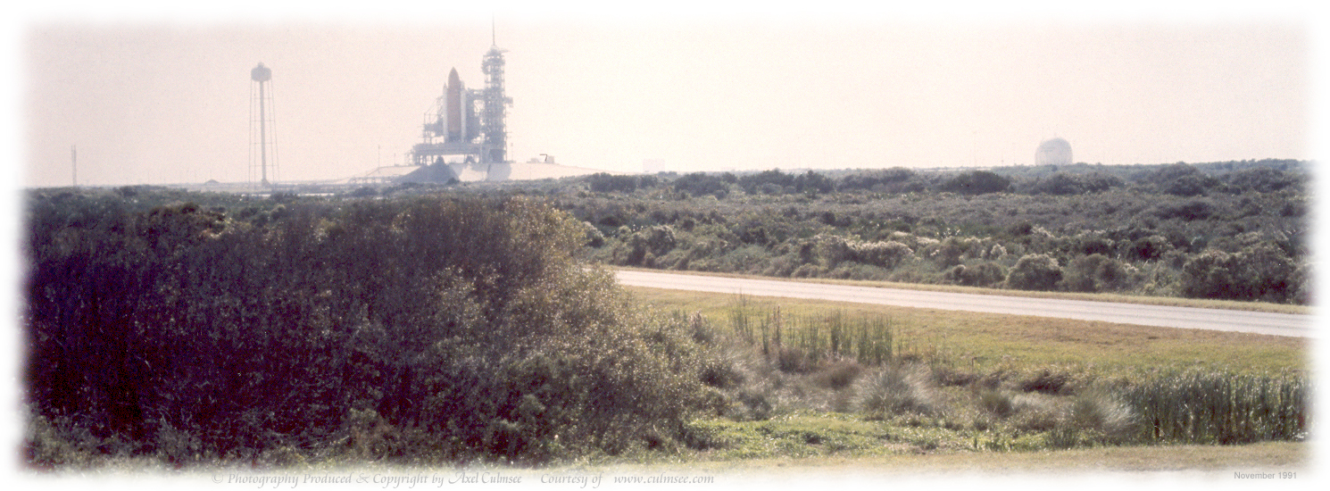 Kennedy Space Center shuttle at launch pad November 1991
