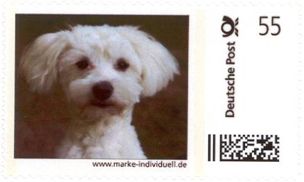 1 aus Deutsche Post Marke individuell Bogen Unikat Oktober 2010 LuLu Portrait