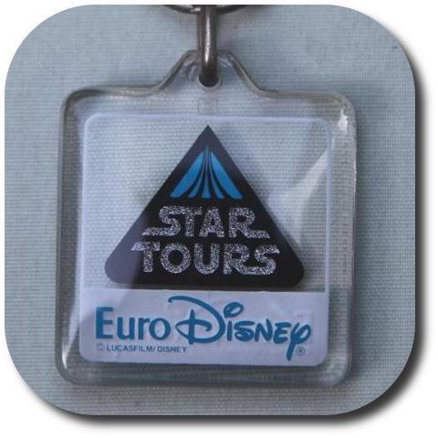 StarTours EuroDisney keyring pendant