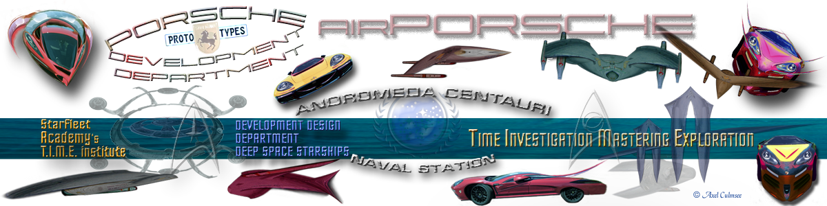 4D starships & Porsche Development Department Banderole