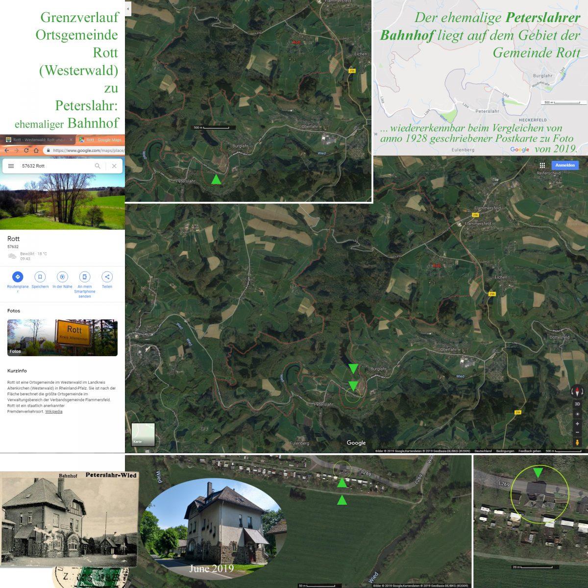 Grenzverlauf Rott Peterslahr Westerwald Google Maps