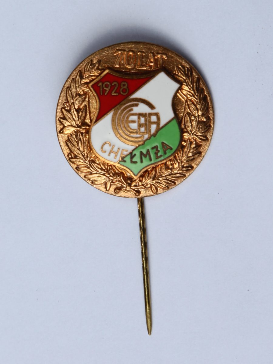 Legia Chelmza pin 70th anniversary 1928-1998