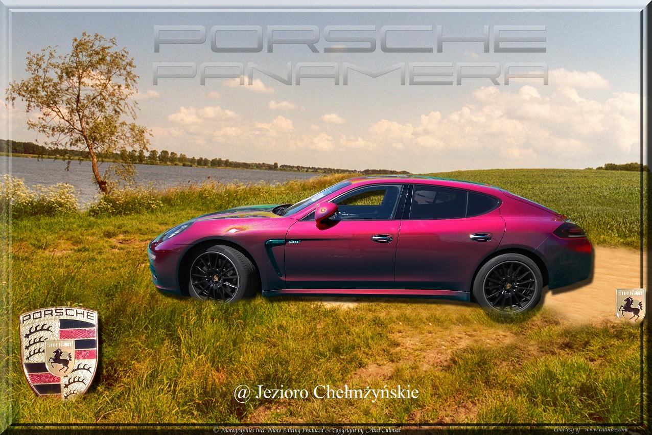 Porsche Panamera solarized metallic Jezioro Chelmzynskie