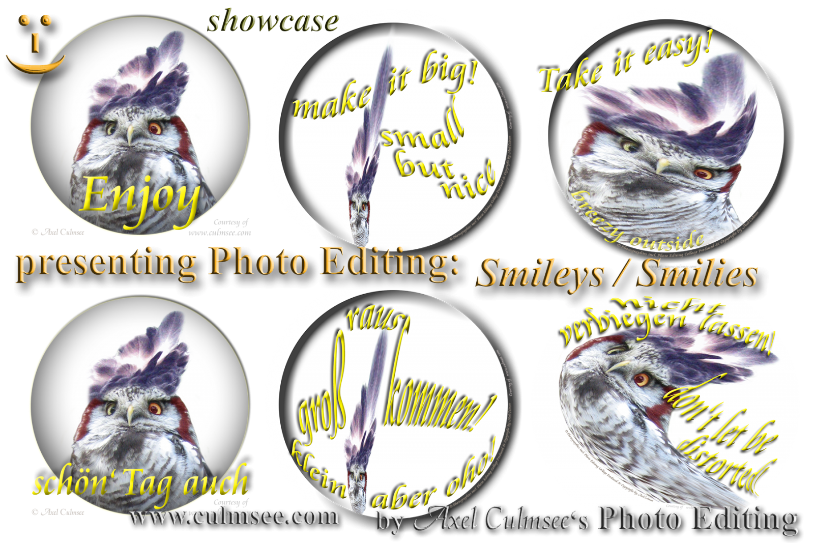 Smiley buttons compilation Photo Editing extreme with Hawk-Owls